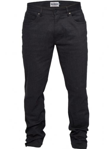 Mish Mash Mens Designer CEO Black Straight Tapered Fit Chino Jeans Trousers